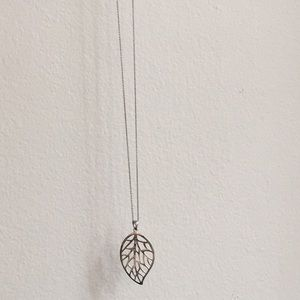 Necklace Silver Leaf Necklace
